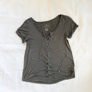 Soft & Sexy Lace-up Top
